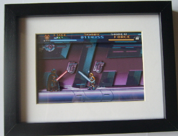 Super Star Wars SNES Art  3D Diorama Shadow Box